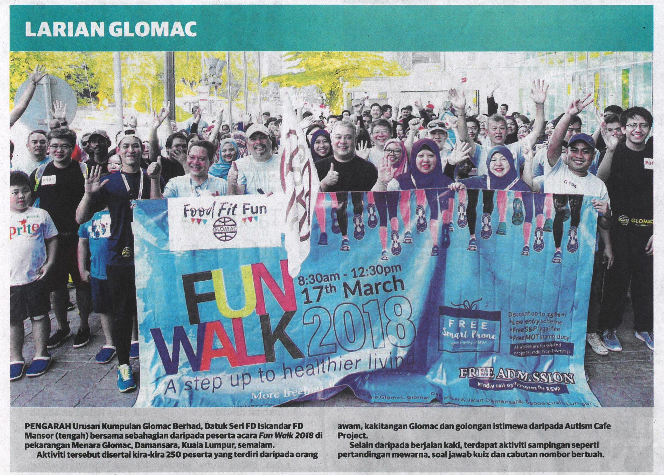 Glomac 2018 Fun Walk