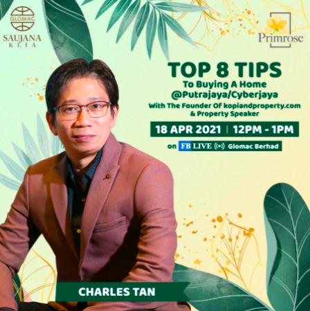 FB Live: Top 8 Tips to Buying a Home at Putrajaya/Cyberjaya with Charles Tan